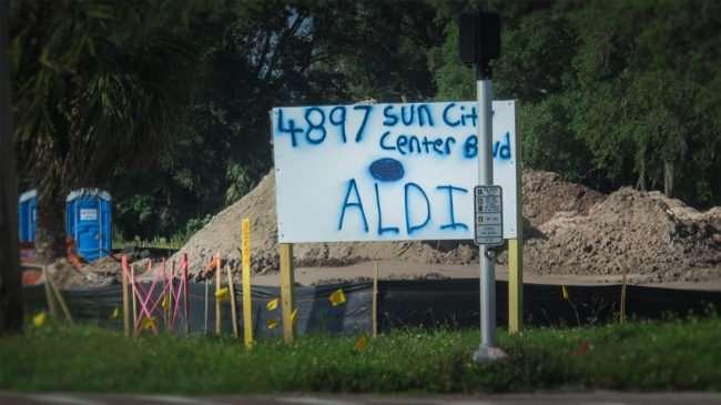 May 22, 2016 - Aldi sign 4897 Sun City Center Blvd/photonews247.com