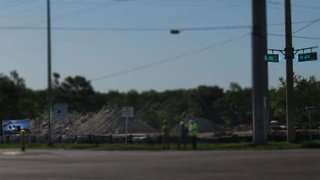 April 11, 2016 - Wawa construction site with piles of dirt on US 301 and SR 674, Wimauma Southshore, FL/photonews247.com