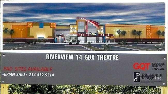 Animated display of Riverview 14 GDX Theatre