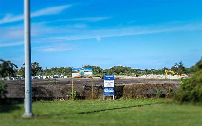 DEC 6, 2015 - Riverview 14 Theater construction site in Gibsonton, FL/photonews247.com