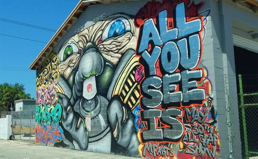 All you see is event mural by mf arts ybor tampa fl for City of tampa mural