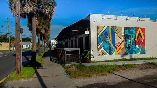 Matchbook mural on the hyde out on platt st in tampa fl for City of tampa mural