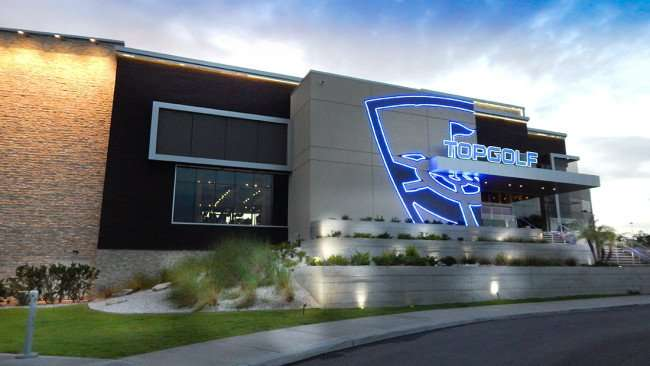 July 6, 2015 - TOPGOLF Tampa front entrance in Brandon, Florida