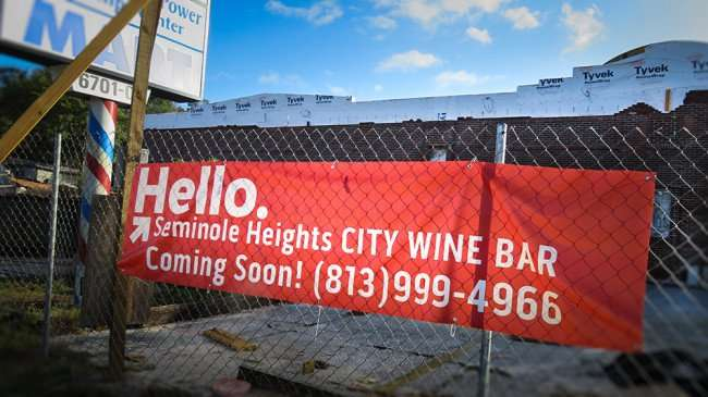 DEC 13, 2015 - City Wine Bar's second location coming to Seminole Heights on N Florida Ave, Tampa, FL/photonews247.com