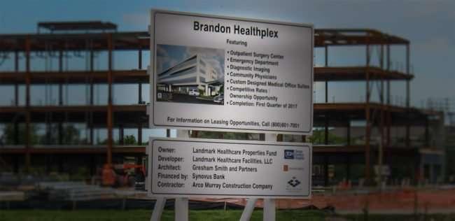 April 17, 2016 - Brandon Healthplex under construction in by Arco TopGolf/photonews247.com