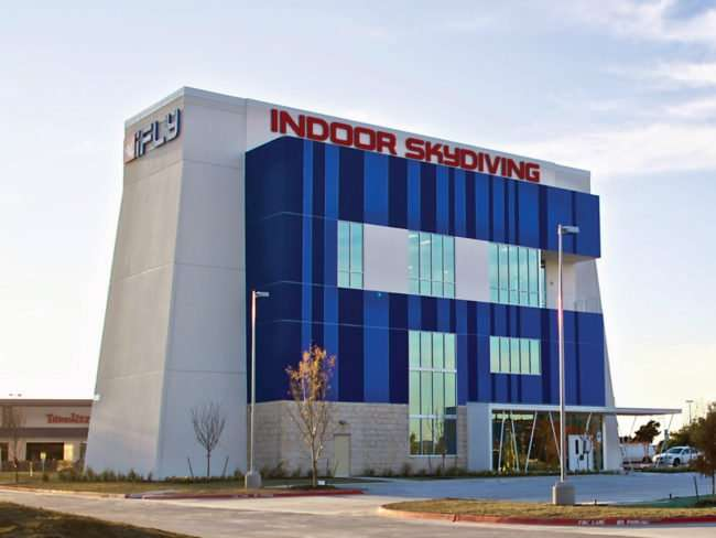 iFly building example for the Tampa location/credit iflyworld.com