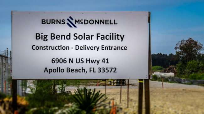 10.11.2016 - Burns and McDonnell at Big Bend Solar Facility 6906 US-41, Apollo Beach, FL/photonews247.com