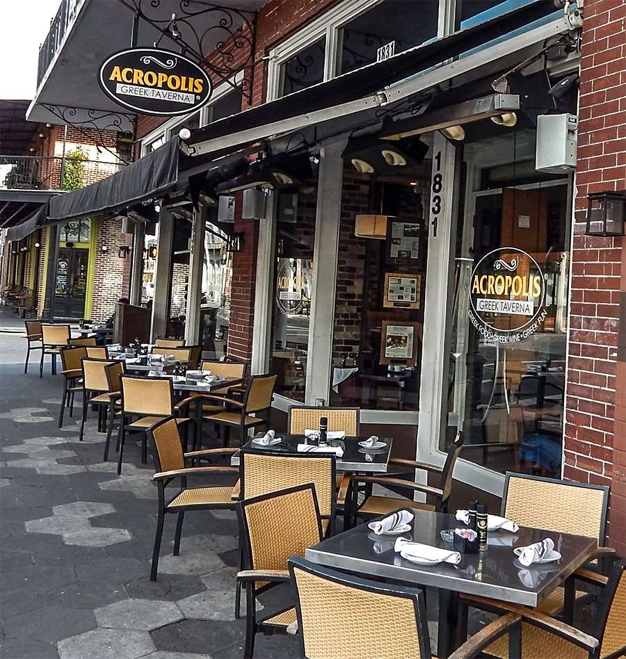 ACROPOLIS Greek Tavern sidewalk dinning 7th Ave Tampa Ybor City/photonews247.com