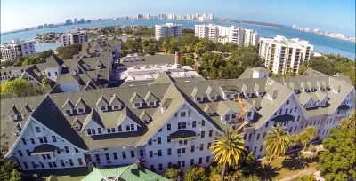 Belleview Biltmore Hotel drones view 2014 before demolition Clearwater FL/capture from youtube.com/belleairimages