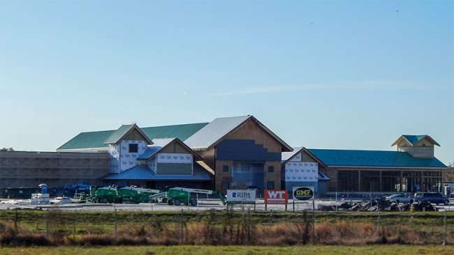 February 7, 2015 - Construction of Bass Pro Shop in Brandon, FL