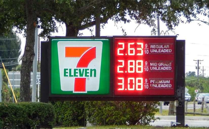 Nov. 21, 2014 - Gas $2.63 at 7-Eleven on Big Bend and US 41, Apollo Beach, FL.
