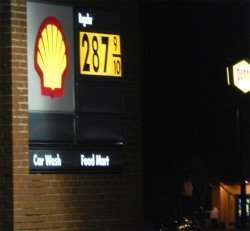 Nov 16, 2014: Sun City Center Shell Gas Station regular gas was 2.87.