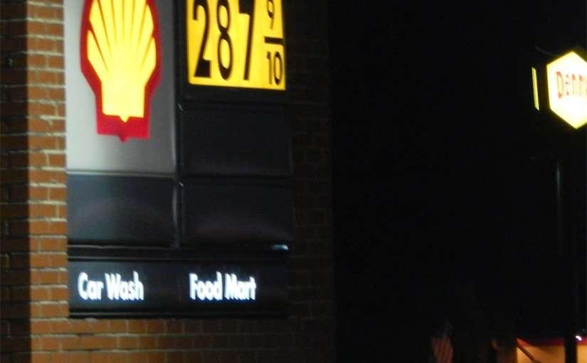Nov 16, 2014: Sun City Center Shell Gas Station regular gas was 2.87.