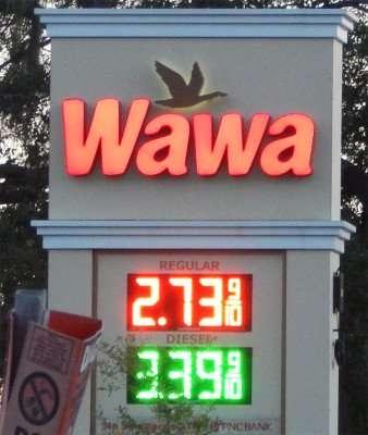 Nov 16, 2014: Wawa's price for regular $2.73 in Tampa FL.