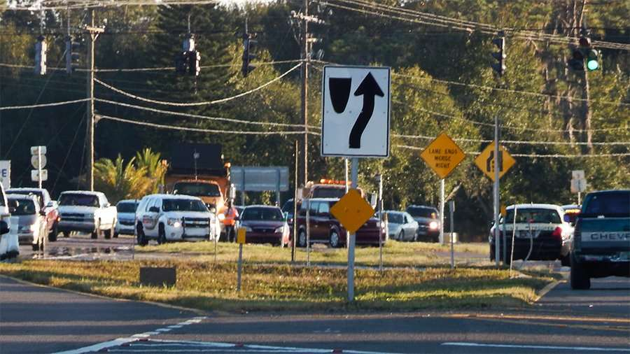 Police and emergency vehicles at two car accident at 674 and 301 (November 10, 2014) Wimauma FL.