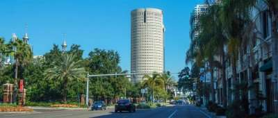 November 17, 2014 - Rivergate Tower from UT on Kennedy in Tampa, FL