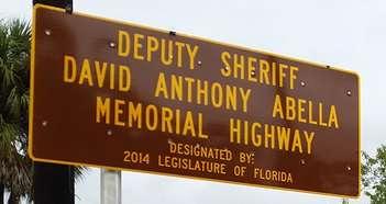 Sign Deputy Sheriff David Anthony Abella Memorial Highway 2014 US 41