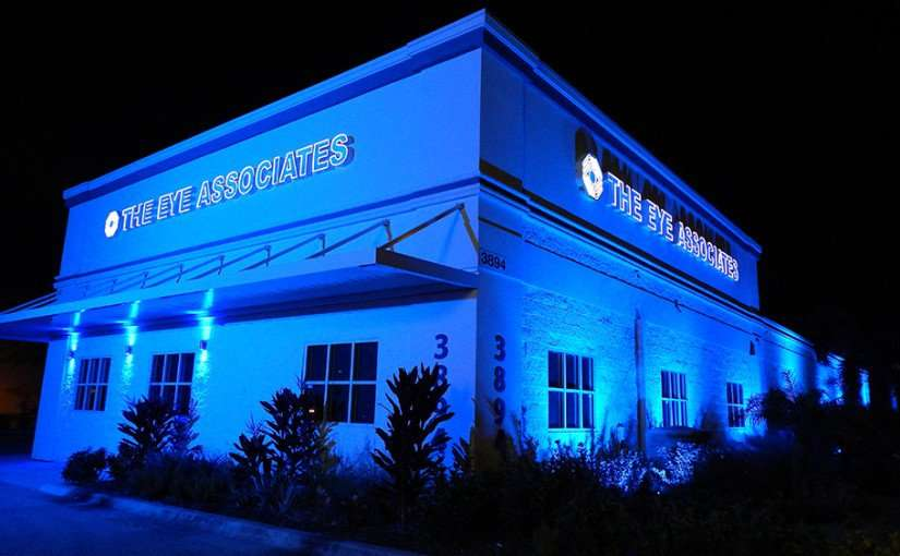 Nov 14, 2014 - The Eye Associates building illuminated with Aurora Lighting effects, Sun City Center, FL