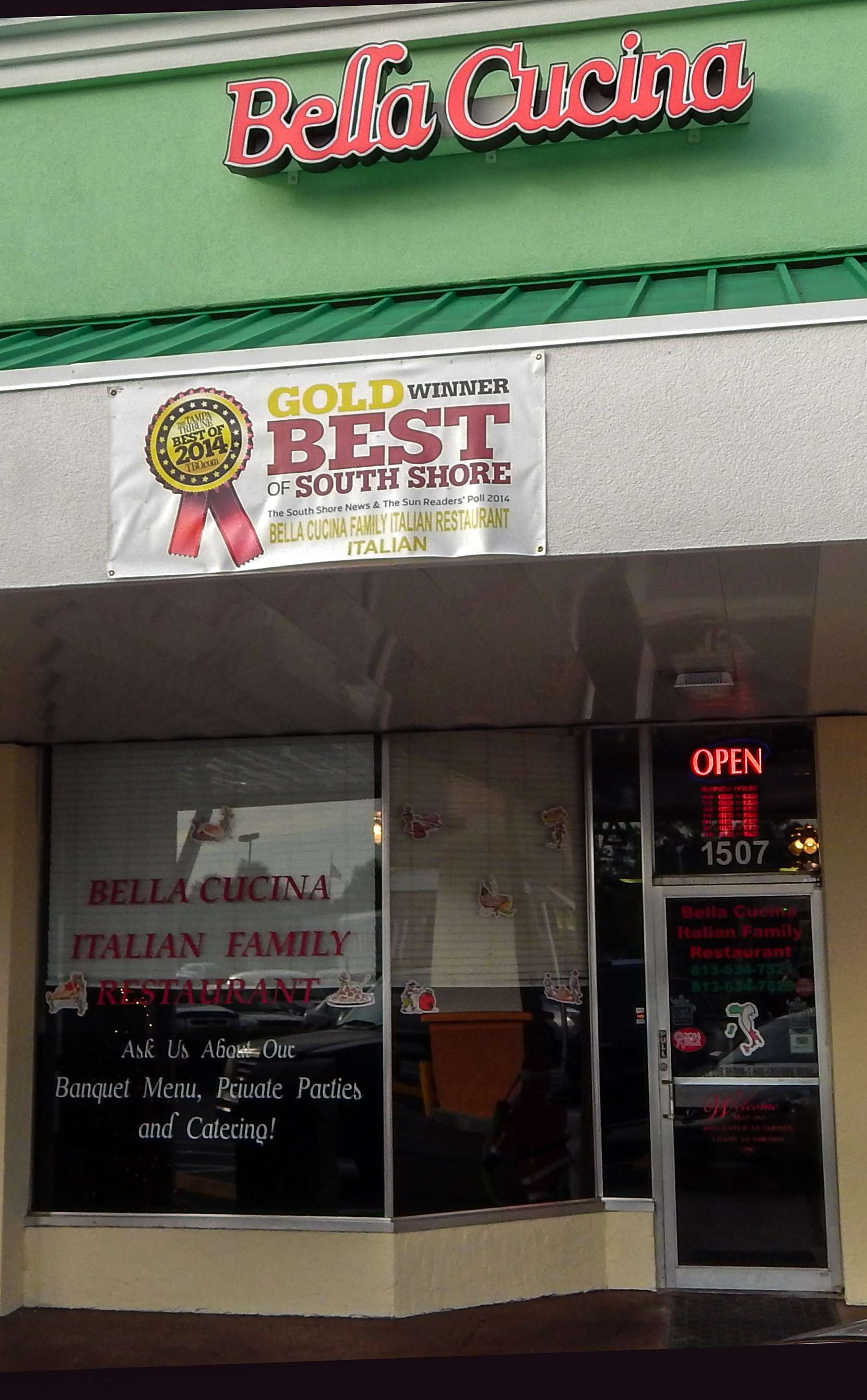 BELLA CUSINA Family Itailian Restaurant wins Tribune Best Of 2014, Best of South Shore, and The Sun Readers Poll 2014