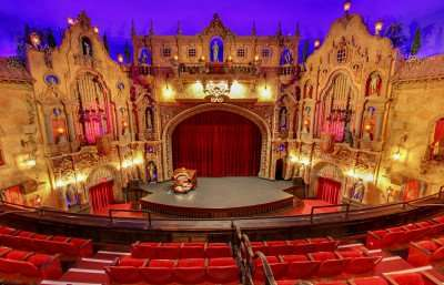 Balcony view of the stage and organ at the Historic Tampa Theater/Image Capture 2014 copyright Google