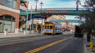 Cable Car at Centro Ybor 8th Street in Historic Ybor, Tampa, FL/photonews247.com