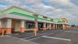 December 25, 2014: 2nd section of the strip mall in Sun City Center Plaza in Southshore Florida.