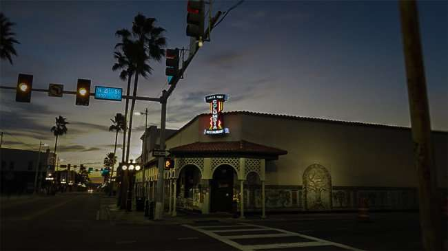 Dec 19, 2015 - Columbia Restaurant as dawn on 21st and 7th in Ybor City, Tampa, FL