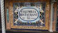 Columbia Restaurant with painted tiled artwork on building on 7th Avenue in Ybor City/Photo News 247