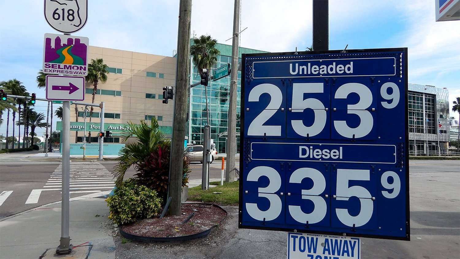 Dec. 11, 2014: Gas prices were $2.53 at Marathon Station on Kennedy Blvd and Channelside Dr in Tampa, FL/photonews247.com