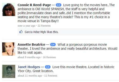 Facebook reviews of Centro Ybor Muvico Theater 20 in Tampa, FL