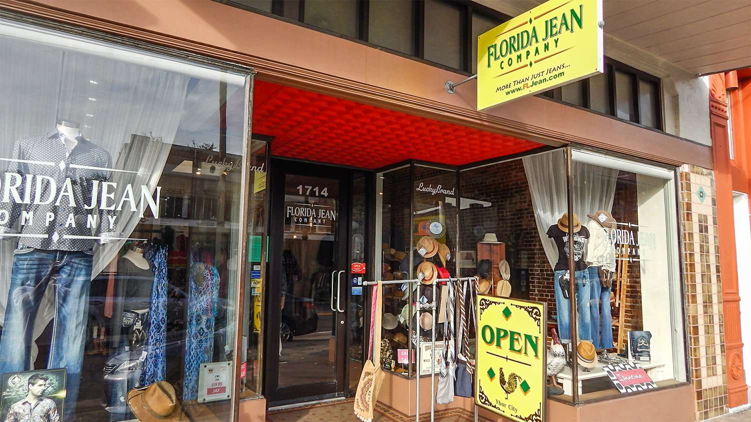 Florida Jean Company on 7th Ave in Historic Ybor City in Tampa, FL