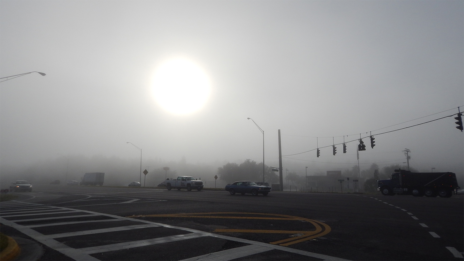 Fog on December 12 2014 10 am in Sun City Center, SouthShore, FL