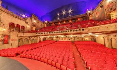 Historic Tampa Theater seating and balcony/Image Capture 2014 copyright Google