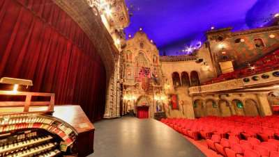 Historic Tampa Theater stage/Image Capture 2014 copyright Google