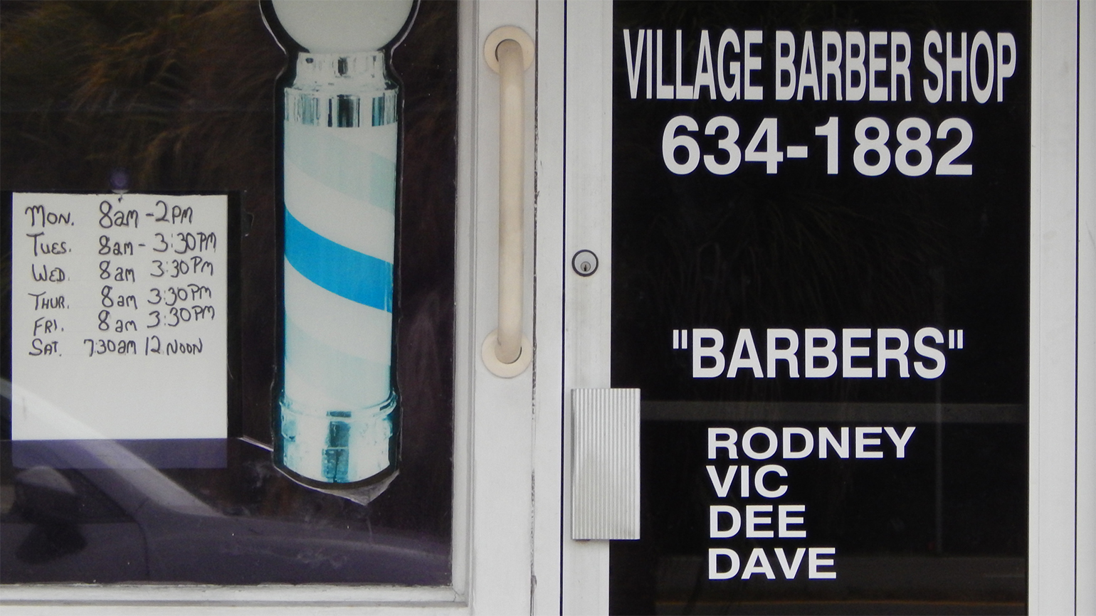 Hours of the Village Barber Shop in Wimauma, FL it the Villages Shipping Center