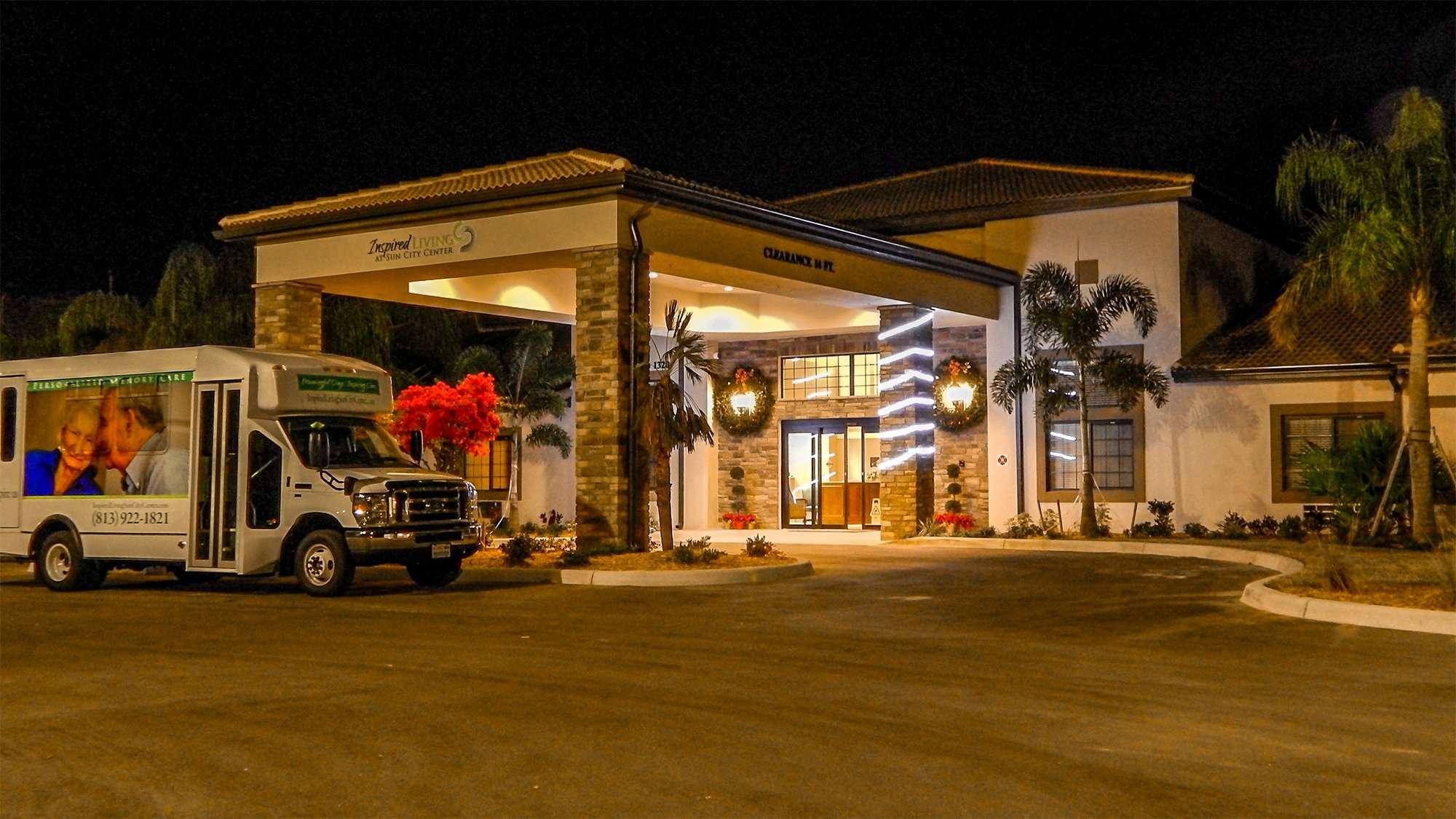 Inspired Living Community in Sun City Center during Christmas season on December 17, 2014 in Southshore, FL