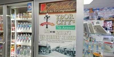 Michelob posters congratulates 7th Ave in Ybor City/2014 Google