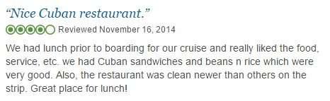 Nov 2014 review of Carmines Cuban Restaurant in Ybor City