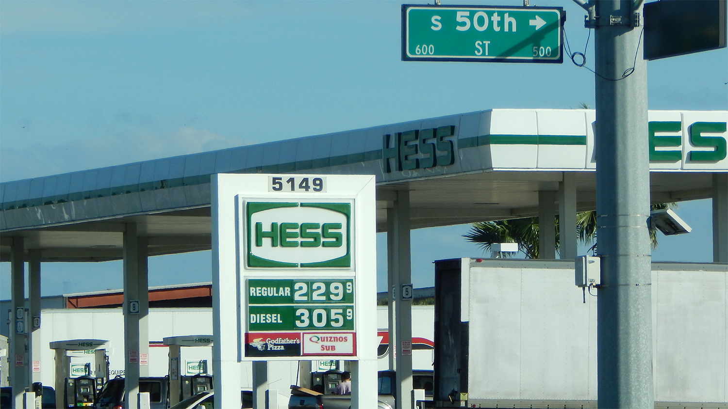 Regular gas was $2.29 on December 28, 2014 at the Hess Station on Adamo Drive, Tampa, FL/photonews247.com