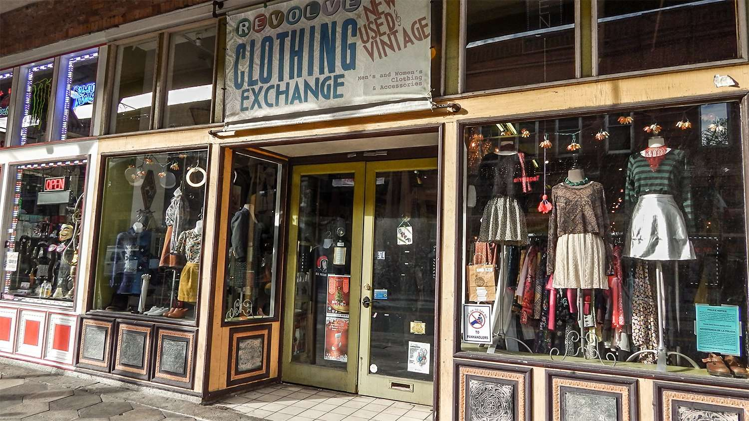 Exchange clothing store