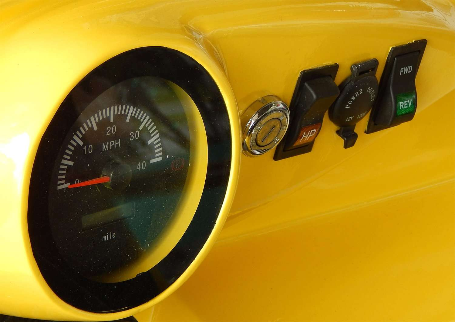 Speedometer Milage Reverse And Forward Switch On Dashboard Of Roadster Golf Cart By Starev