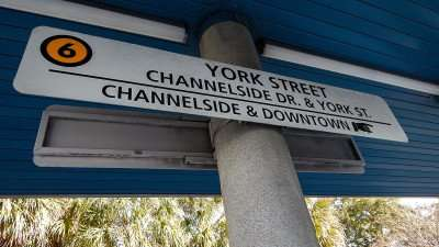 Boarding Ramp for Cable Car 6 on Channelside Dr going to York Street, Ybor City and back to Channelside Drive./photonews247.com