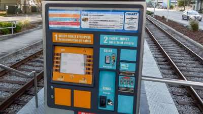 Street Car ATM Pay Kiosk Station on Channelside Dr, Tampa, FL. /photonews247.com