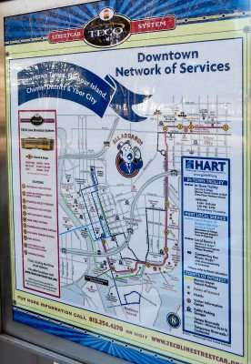 Streetcar Map for Downtown Tampa, Harbour Island, Channel District and Ybor City./photonews247.com