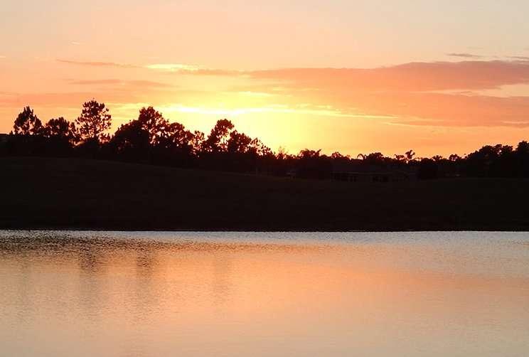 Sun setting in Southshore, Sun City Center, FL 2014