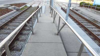 Wheelchair access ramp for Street Cars in Tampa, FL./photonews247.com