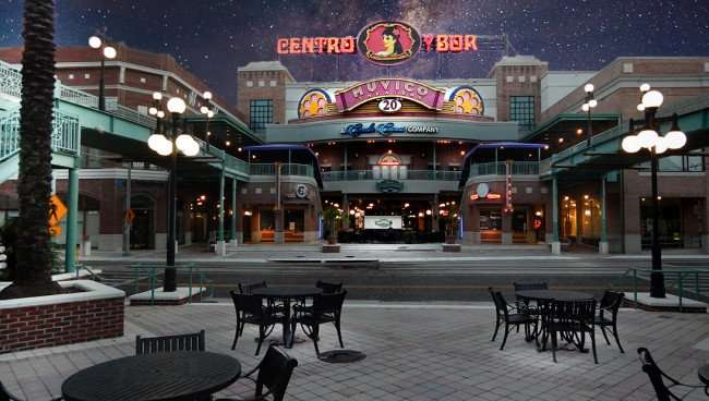 July 5, 2015 - Centro Ybor Muvico 10 digital theater in Ybor City, Tampa, FL