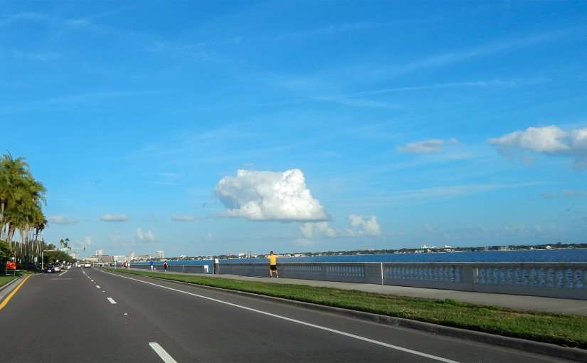 JAN 3, 2015 - Bayshore Walk on world's longest sidewalk (4.5 miles) along Bayshore Blvd in Downtown Tampa, FL/photonews247.com