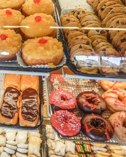 Donuts, long johns and chocolate chip cookies at The Hot Tomato, Ruskin, FL