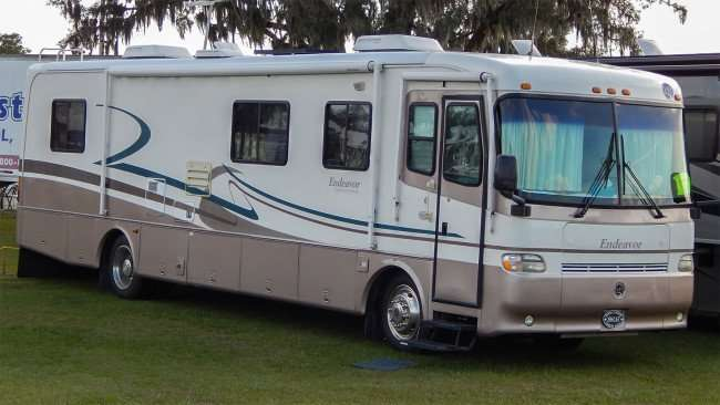 Endeavor RV Motorhome by Holiday Rambler from Family Motor Coach Association parked at Florida State Fairgrounds/2015 photonews247.com